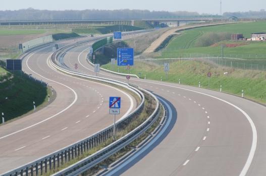 Bundesautobahn 72, Abfahrt Rochlitz in Richtung Leipzig