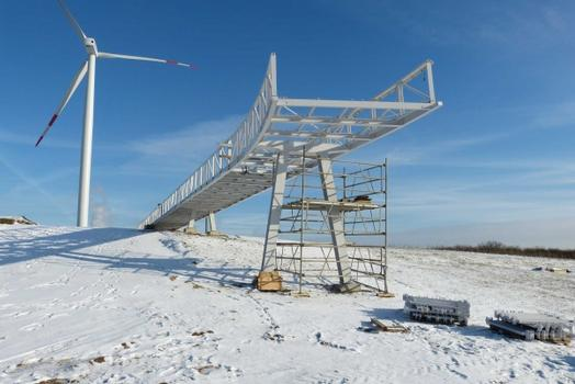 Horizontweg Energieberg Georgswerder  Etat pendant la construction