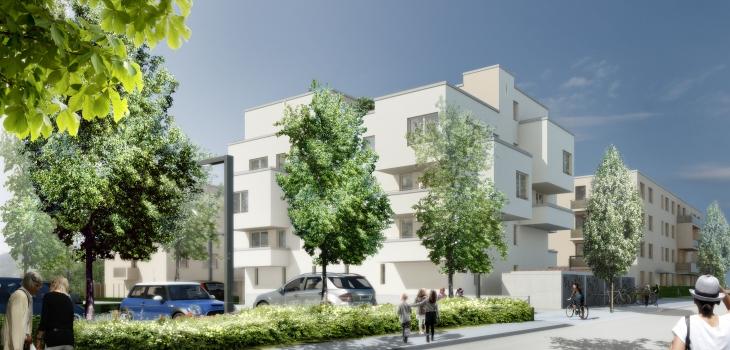 """Visualisierung des Wohnquartiers """"Nordlichter II"""" in Jena-Nord"""