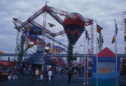 Expo 1986 (Vancouver) - Air Plaza featuring various forms of air transportation