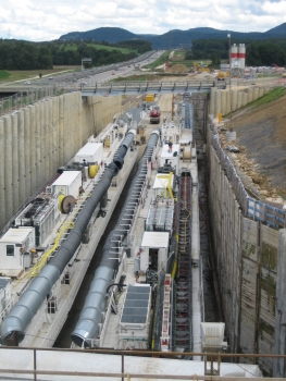 Installations for the construction of the Albvorland Tunnel at the eastern portal