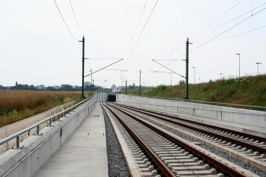 Nördliche Rampe und Nordportal des Auditunnels an der Neubaustrecke Nürnberg–Ingolstadt