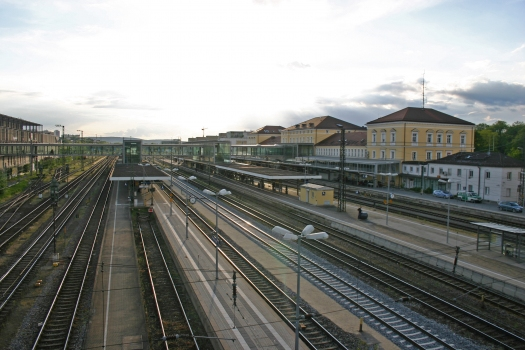 Passerelle de la gare centrale de Ratisbonne