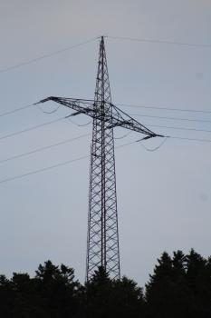 Pylônes pour le franchissement du Neckar à Sulz