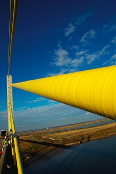 Cable wrapped with ATIS Cableskin®, Veterans Memorial Bridge, Texas, USA.