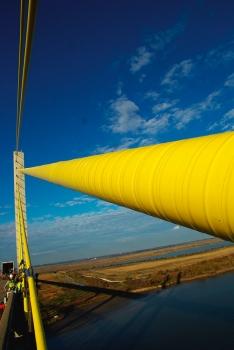 Mit ATIS Cableskin® gewickeltes Seil, Veterans Memorial Bridge, Texas, USA.