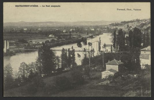 Châteauneauf-sur-Isère Suspension Bridge