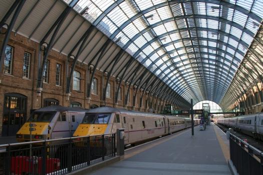 London King's Cross railway station platform 6 after its refurbishment