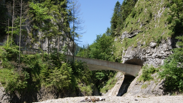 "Bridge ""Schanerlochbrücke"" on the Road through the Ebnitertal in Dornbirn, Vorarlberg, Austria after the first Tunnel (counting from Ebnit)"