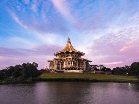 Nouvel parlement de l'asemblée législative de l'état de Sarawak