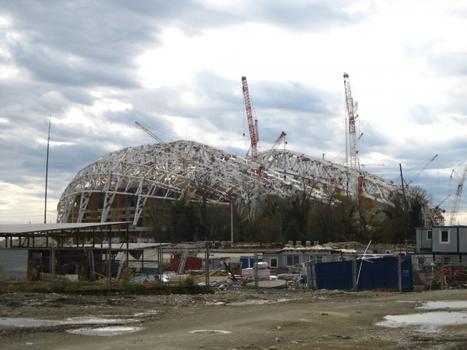 Stade olympique Ficht en construction