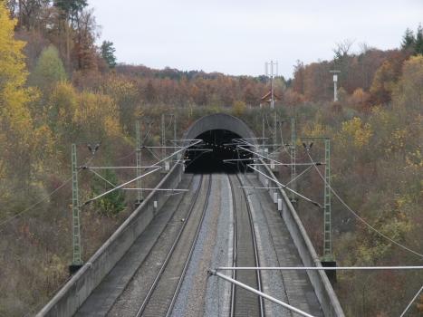 Ostportal des Freudensteintunnels, Teil der Schnellfahrstrecke Mannheim-Stuttgart.