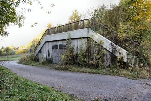 Der Notausgang des Freudensteintunnels der Schnellfahrstrecke Mannheim-Stuttgart