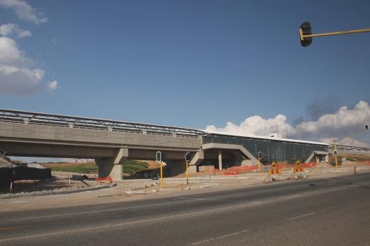 Midrand Gautrain station under construction.