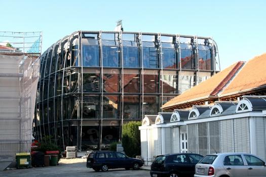 "University of Arts, Graz, Austria, Europe: new building ""Mumuth"", during construction"