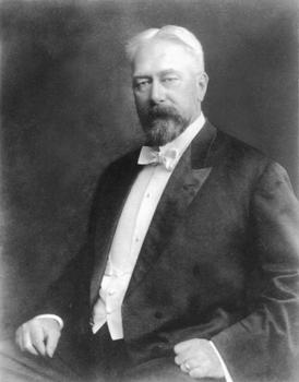 Gustav Lindenthal aus Brünn/Mähren 59jährig in der Zeit, als er den Bau der Queensboro-Brücke leitete