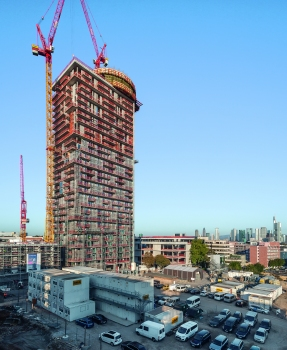 With a height of 140 m, the new Henninger Turm is one of the highest high-rise residential buildings in Germany.