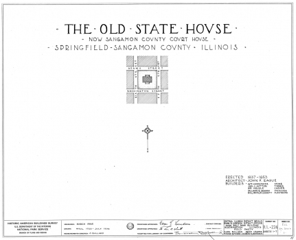 Old State House, Springfield: Plans
