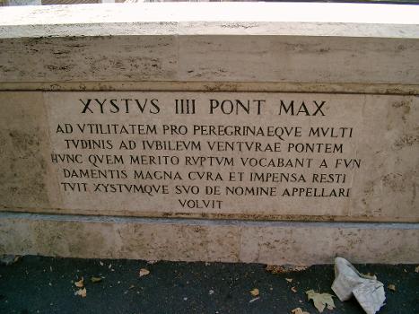 Ponte Sisto, Rom – Inscription