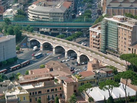 Railroad Viaduct over Via P.ta Cavalleggeri, Rome.