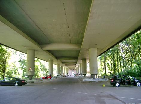 Berliner Brücke, Duisburg.  Viaduc d'accès nord