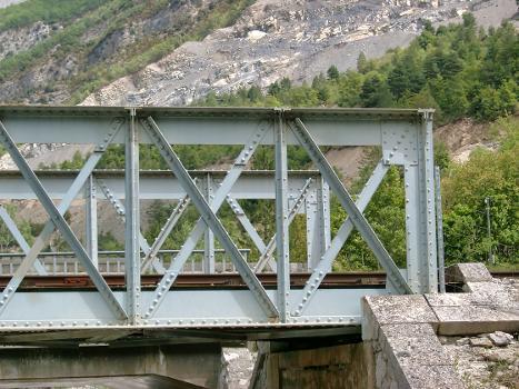 Train des Pignes Pont ferroviaire près de Chaudon-Norante (04)