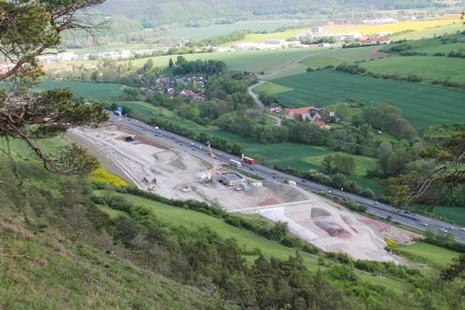 Construction of the Jagdbergtunnel near Jena in May 2012.