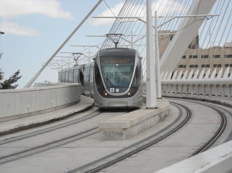Straßenbahnbrücke Jerusalem
