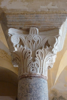 Capital in the crypt of Saint Paul at Jouarre