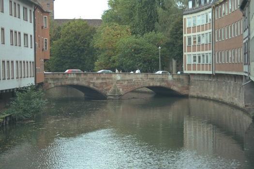Partie rive droite du Karlsbrücke à Nuremberg, Allemagne