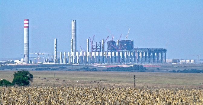 Kusile Power Station, Mpumalanga, South Afric, under construction taken from the N4