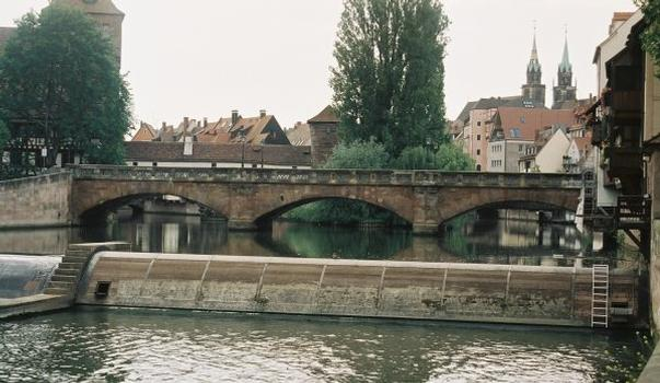 Maxbrücke à Nuremberg, Allemagne