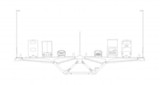 Mersey Gateway Bridge: Regelquerschnitt