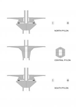 Mersey Gateway Bridge: Auflagerungsbedingungen an den Pylonen