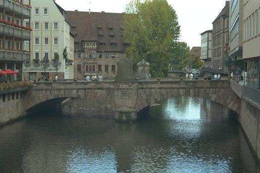 Museumbrücke à Nuremberg, Allemagne