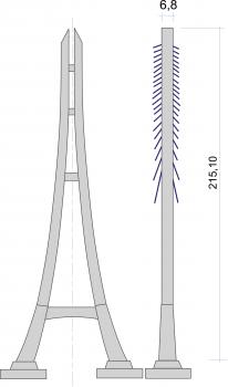 Élévation du pylône du troisième pont de Nanjing