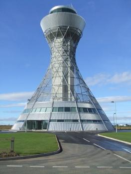 Kontrollturm am Flughafen Newcastle