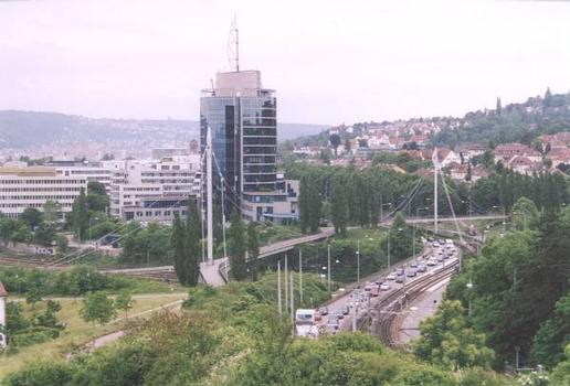 Fußgängerbrücken am Nordbahnhof, Stuttgart.