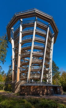 Observation tower of the Black Forest Canopy Walk