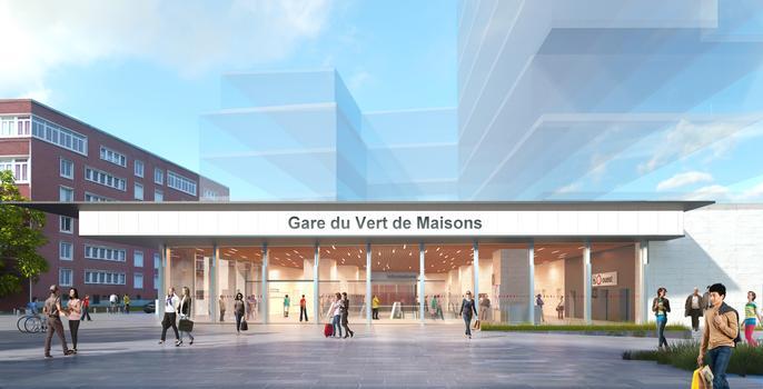 Le Vert de Maisons Metro Station (Line 15)