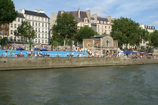 Gorges Pompidou-Schnellstrasse «Paris Plages»