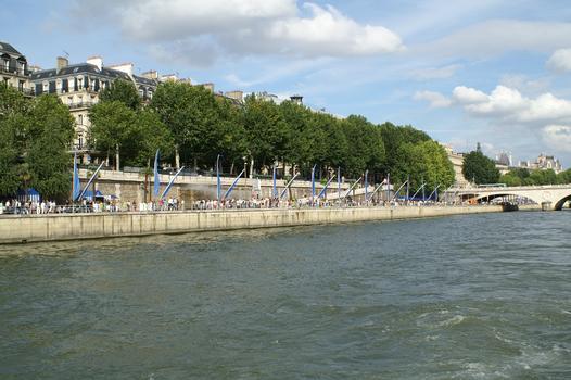 Voie Gorges Pompidou «Paris Plages»