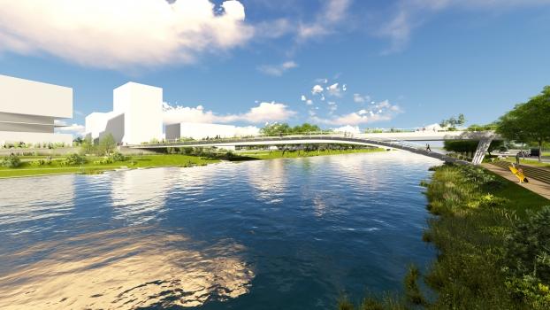 Pont du Village Olympique Paris 2024