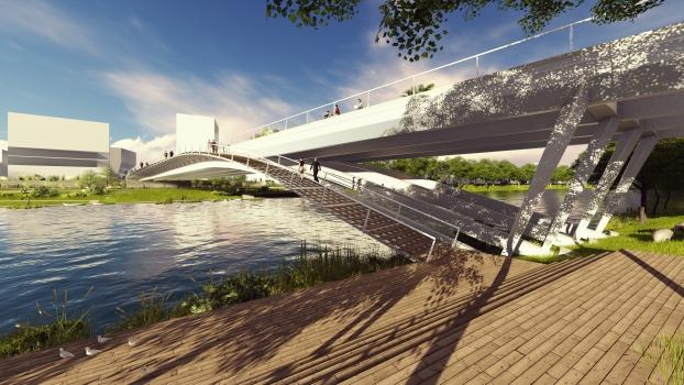 Paris 2024 Olympic Village Bridge