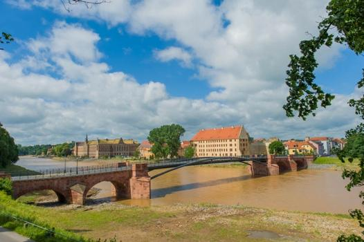 Pöppelmannbrücke 2013 nach dem Hochwasser