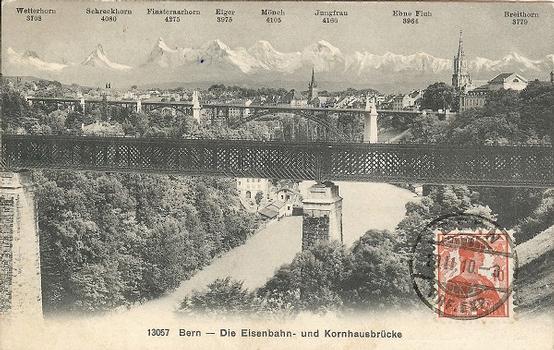 Bern - Die Eisenbahn- und Kornhausbrücke