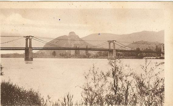 Pont suspendu de Viviers