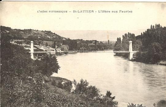 Saint-Lattier Suspension Bridge