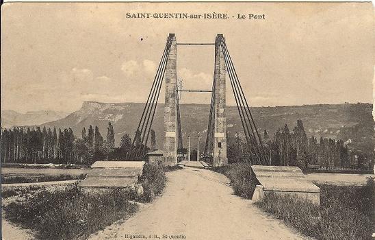 Pont suspendu de Saint-Quentin-sur-Isère