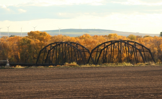 Ririe A Pegram Truss Railroad Bridge